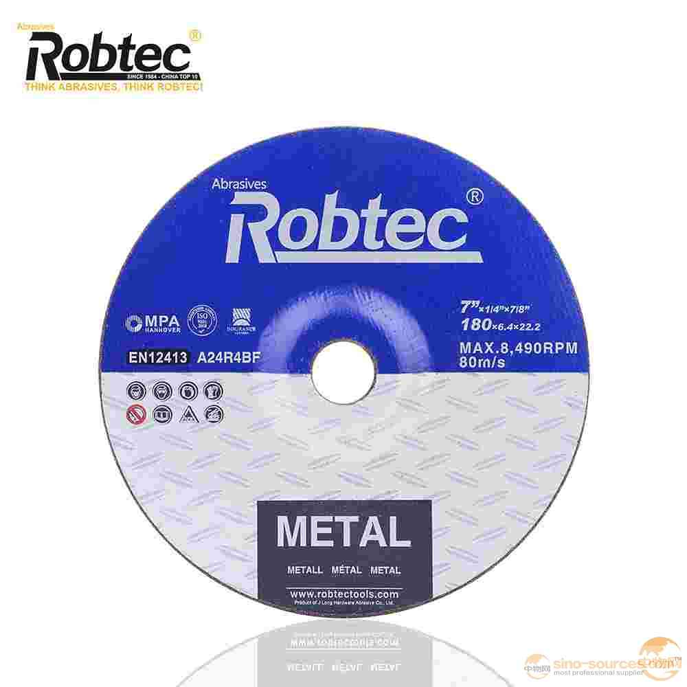ROBTEC Black Abrasive Flexible Metal Grinding Disc, China Top 10 Flexible Grinding Disc For Metal