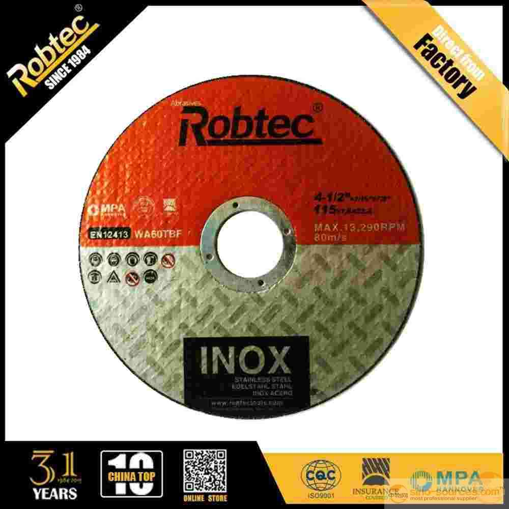 "4.5"" ROBTEC MPA abrasive metal cutting disc"