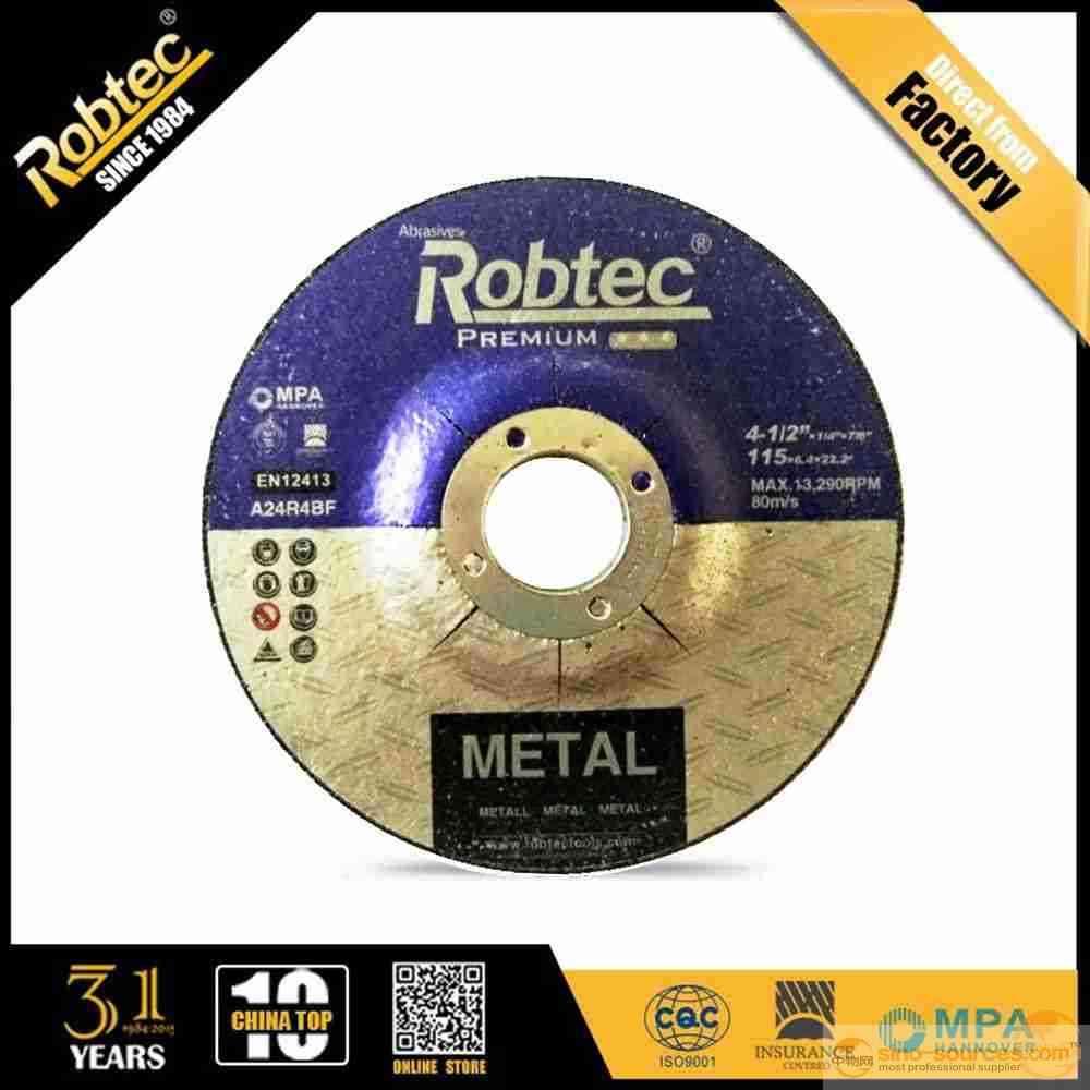 "ROBTEC 4.5""abrasive grinding wheel with MPA"
