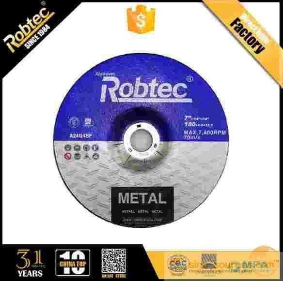 "ROBTEC 7"" Abrasive T27 Metal Grinding Disc"