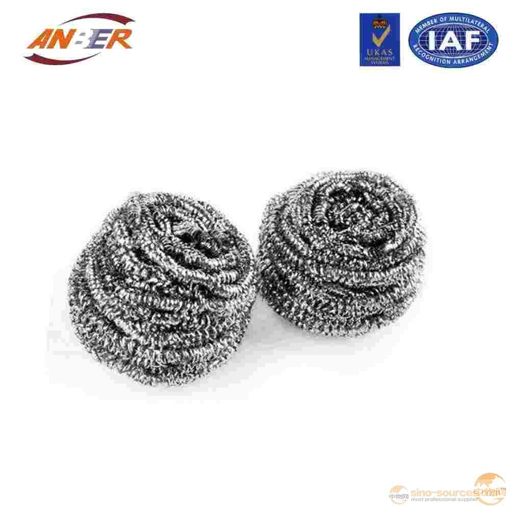 Stainless steel scourer for kitchen cleaning