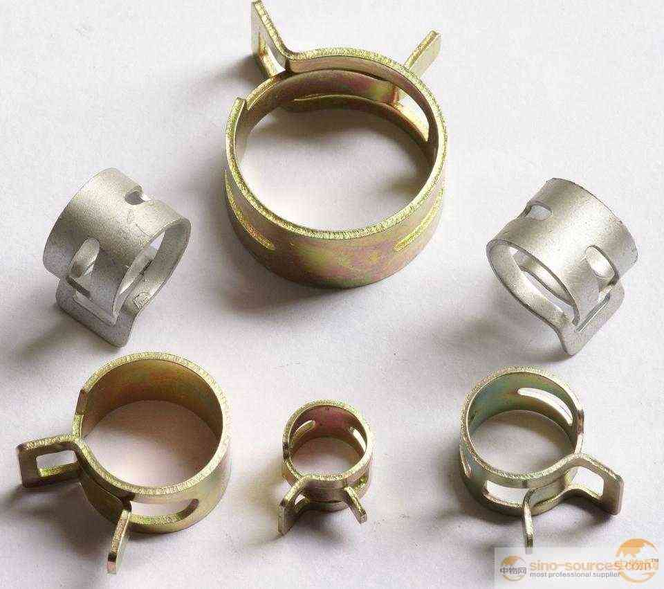 High quality 65mn zinc plated adjustable spring band hose clamp
