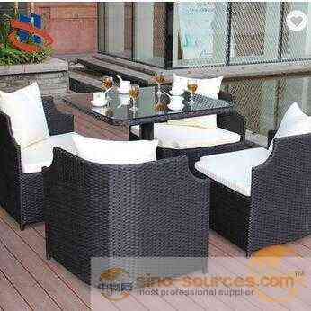 Leisure Dining Set 5pcs KD Rattan Garden Furniture, Outdoor furniture table and chair