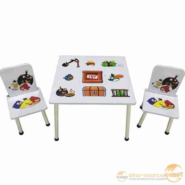 Wooden Kids Table Chairs Set