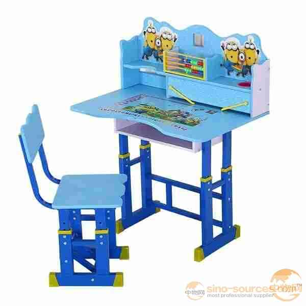 Children Assemble Furniture Study Desk and Chair