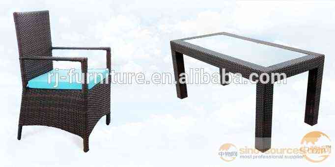 hot sell restaurant round table and chair set rattan dining set wicker furniture