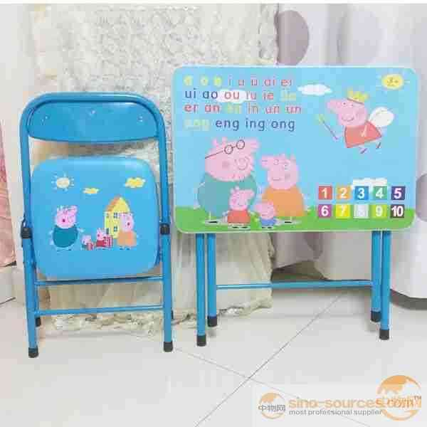 Cartoon School Desk and Chair Set