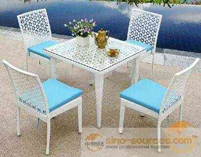 Garden Patio Rattan Wicker Furniture Imitate Bamboo Outdoor chair
