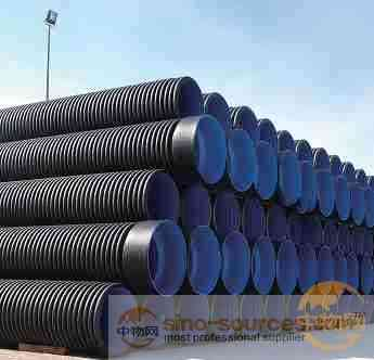 High density PE doble-wall corrugated pipe
