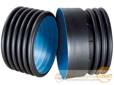Underground double wall corrugated pipe sn4 drain pipe