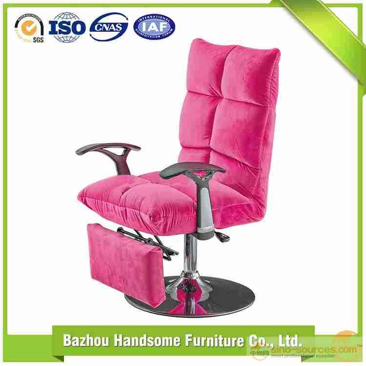 Folding Fabric Cushion Office Chair with  PP Armrest