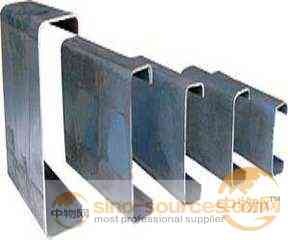 Cold formed galvanized steel c z purlins/ Q235 carbon steel channel size