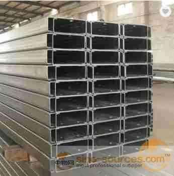 ms steel q235 c purlin hot dip galvanized c channel steel price