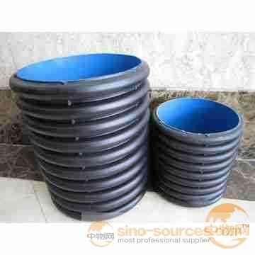 High density polyethylene steel reinforced hdpe spiral corrugated polyethylene pipe