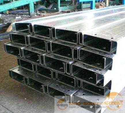 Galvanized slotted c profile/steel strut channel/C-shaped steel