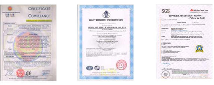 Certificate of Tinplate