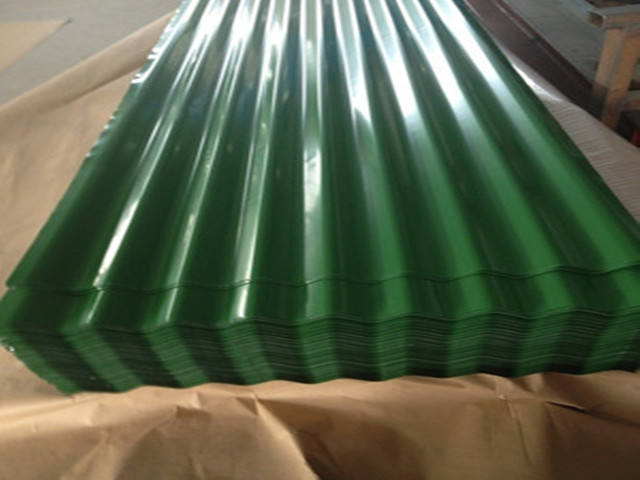 corrugated color coated zinc steel roofing sheets