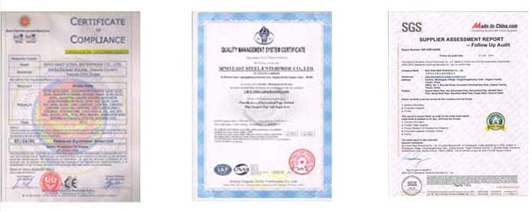 Certificate of Tinplate