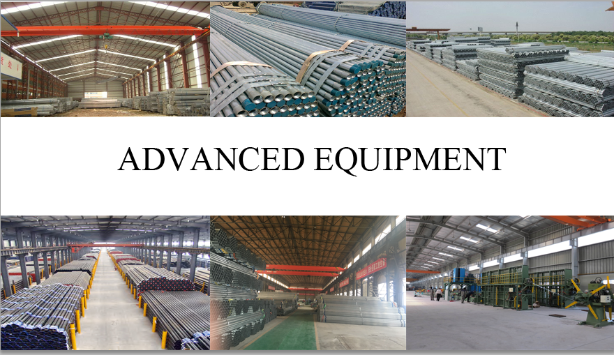 advance equipment of hot galvanized steel pipe made in China