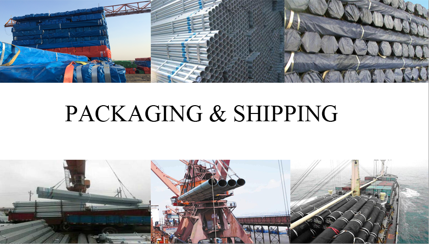 packaging and shipping of hot galvanized steel pipe made in China