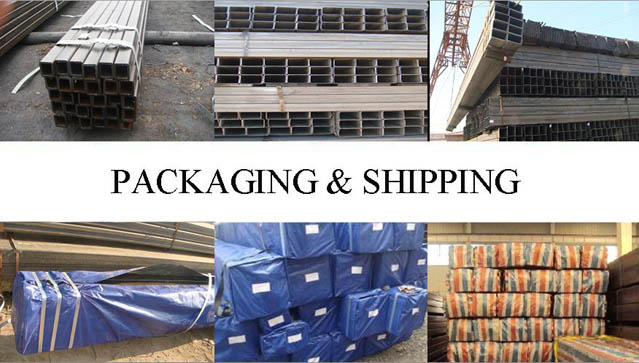 packaging and shipping of Square and Rectangular Tube