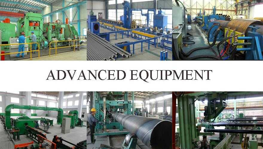 advanced equipment of Galvanized steel pipe in china for construction
