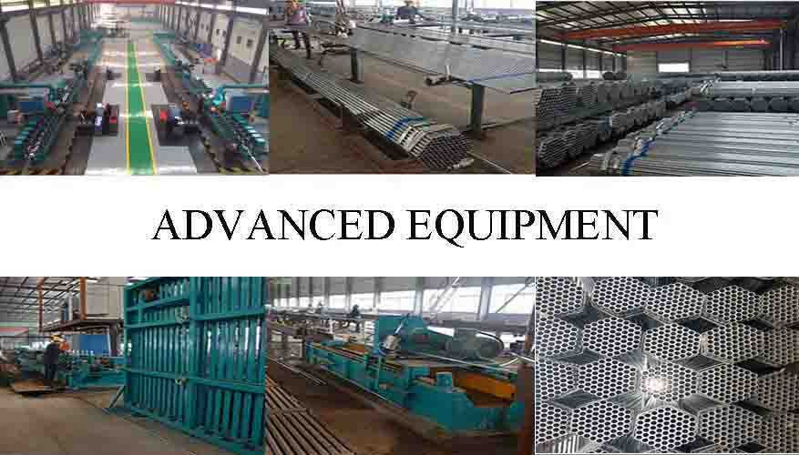 advanced equipment of Galvanized Tube Manufacturer In China High Quality with Best Price