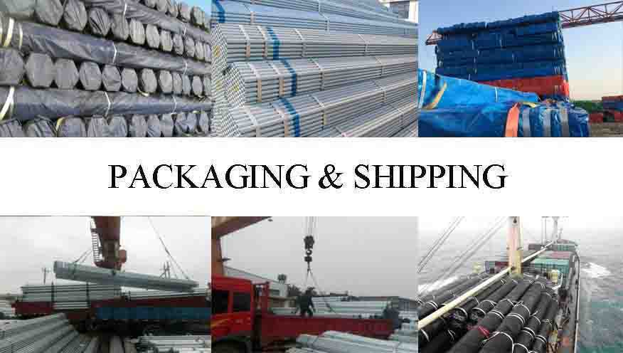 packaging & shipping of Galvanized Tube Manufacturer In China High Quality with Best Price.