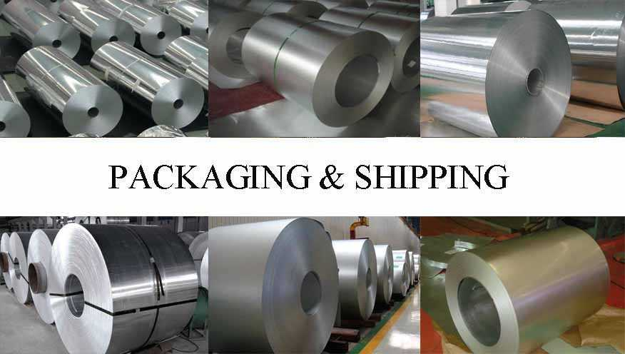 Packaging and Shipping of High quality product Aluminium coil