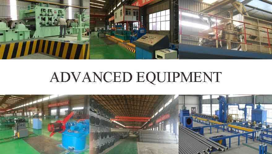 Advanced equipment of Galvanized Tube Supplier in China