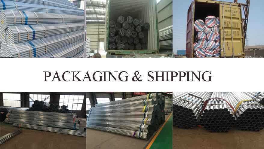 Packaging and shipping of Galvanized Tube Supplier in China