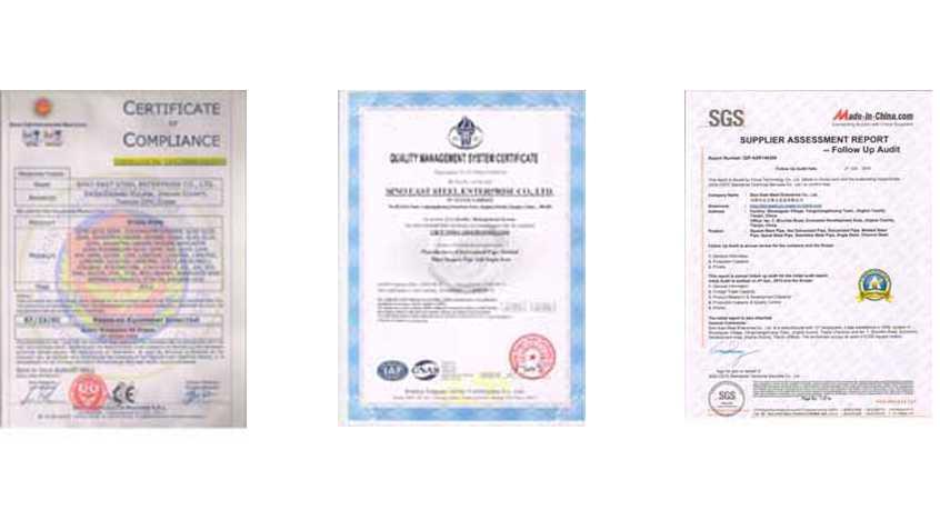 certificates of sino