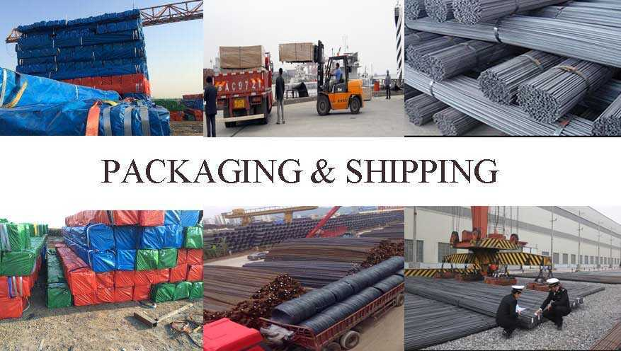 packaging and shipping of AISI, ASTM, BS, DIN, GB, JIS deformed bar made in China