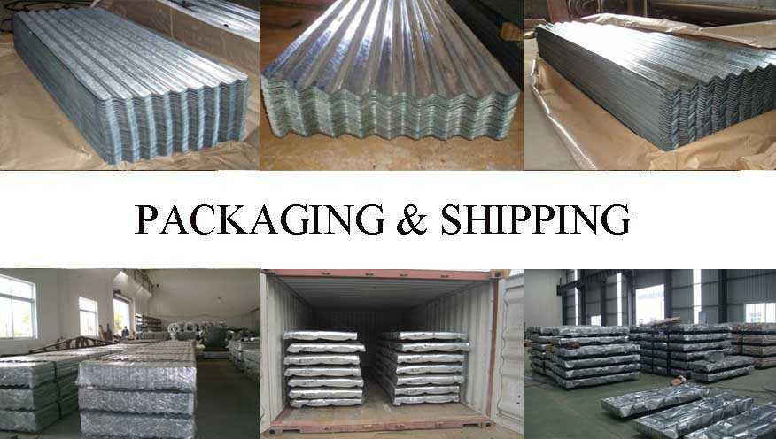 Packaging and shipping of Roofing sheet for building producted in China factory