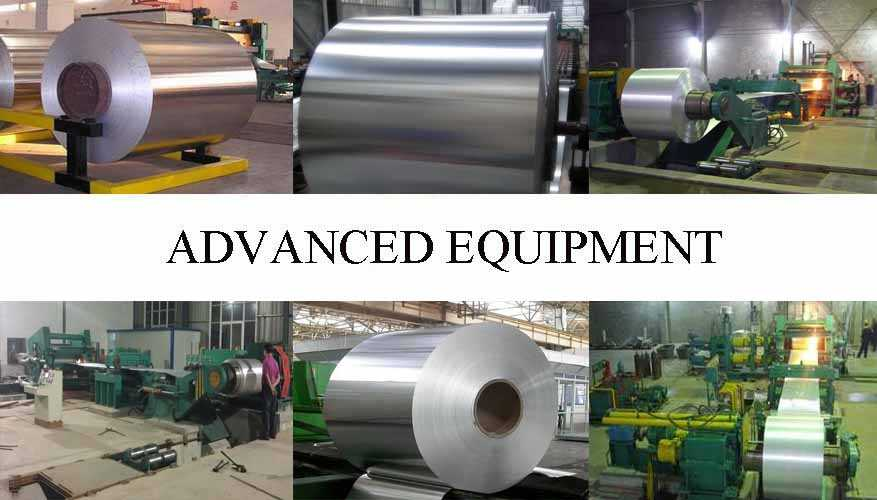 Advanced equipment of Aluminum coil from factory