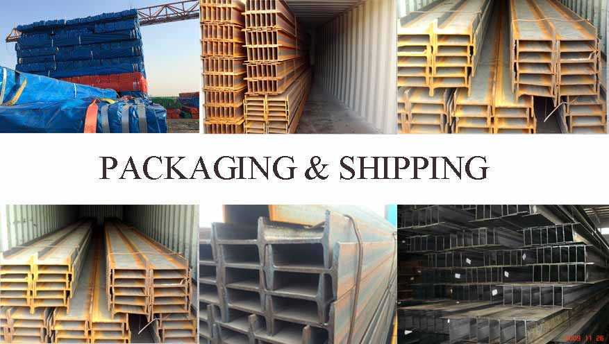 packaging and shipping of Q215 Q235 Q255 Steel Beams Supplier