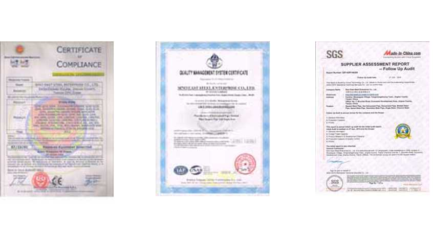 certificates of sino