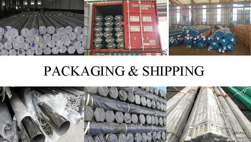 packing and shipping of ASTM-249 high quality stainless steel pipes made in China