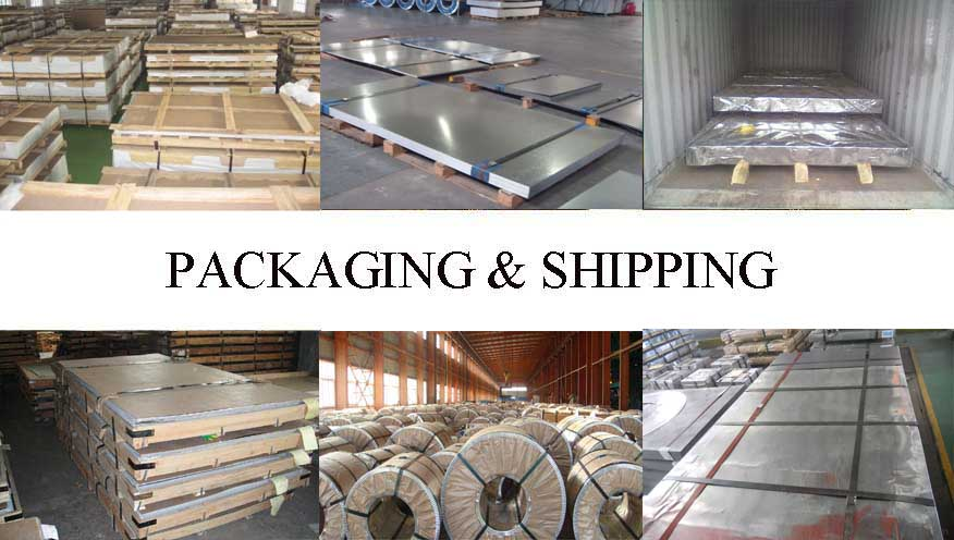 Packaging and shipping of Galvanized sheet