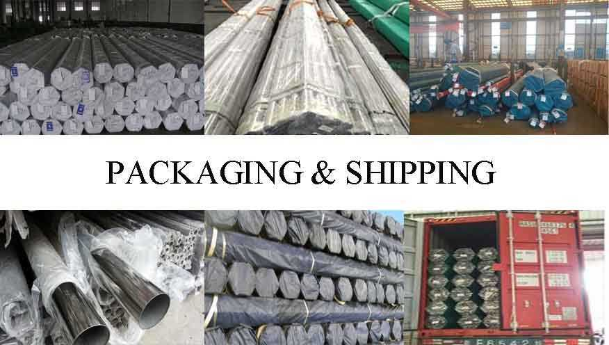 packing&shipping of ASTM-270 stainless steel pipes  for construction made in China