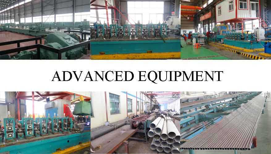 advanced equipment of ASTM-270 stainless steel pipes  for construction made in China