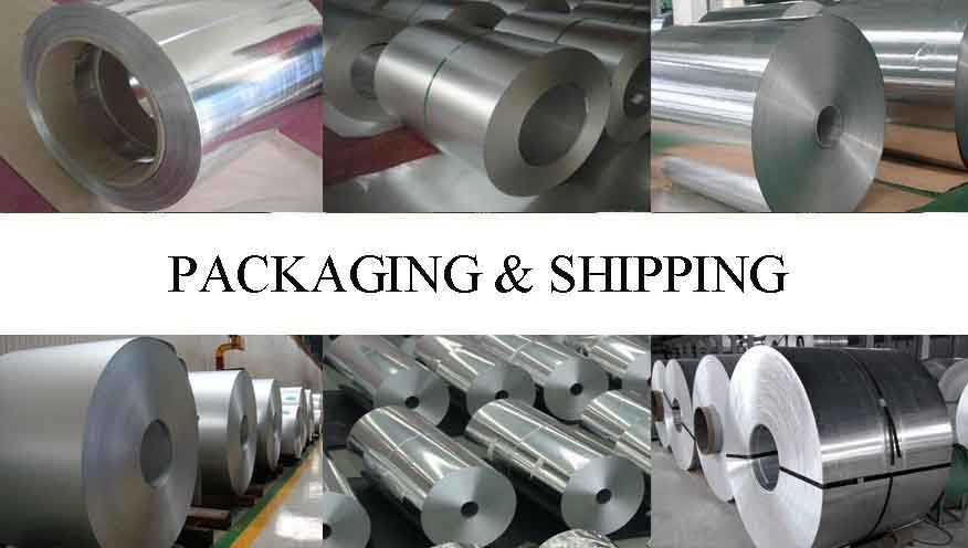 Packaging and Shipping of Aluminum Coils in different types