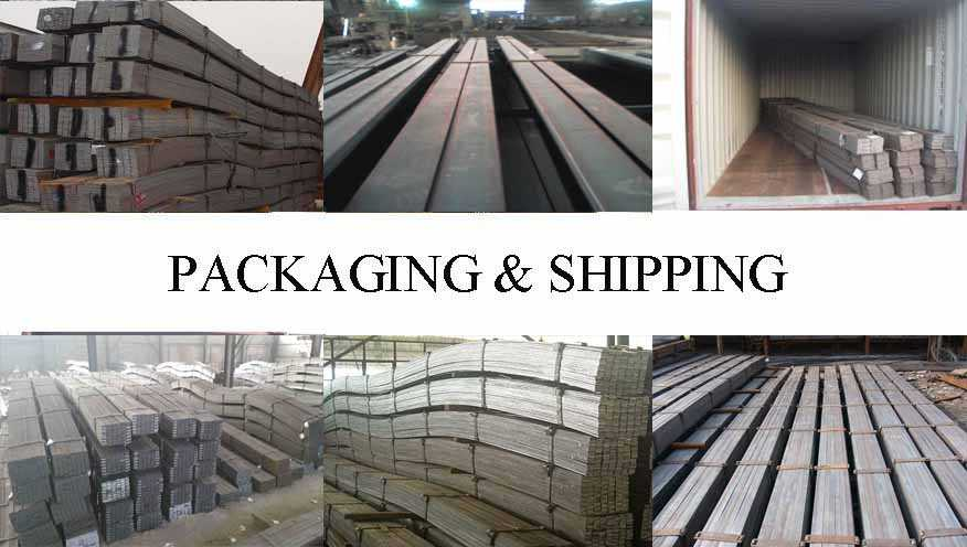 Packaging and Shipping of Hot sale A36, SS400, Q235 Hot rolled steel copper flat bar