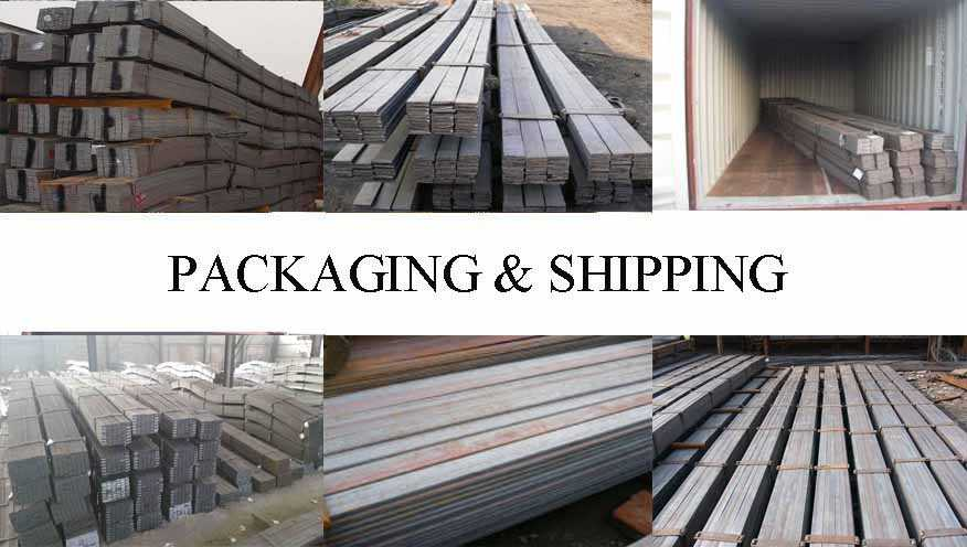 Packaging & Shipping of factory produce low price prime q235 a36 steel flat bar