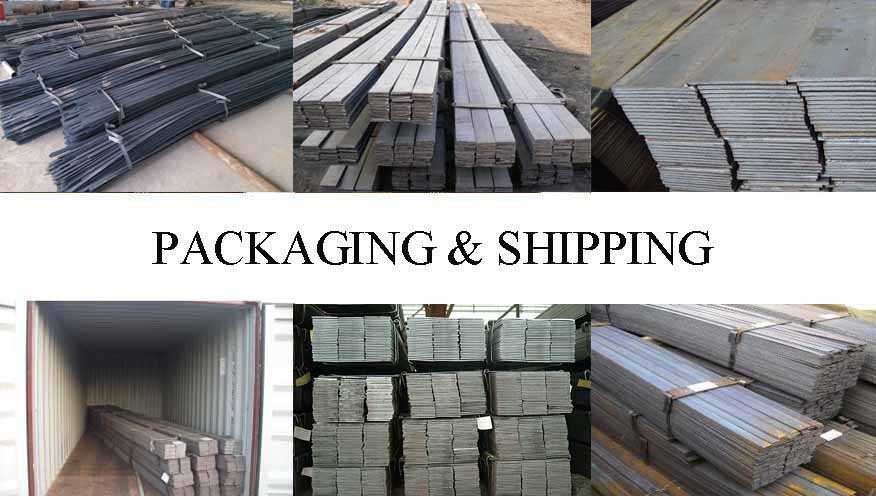 Packaging & Shipping of high quality flat bar