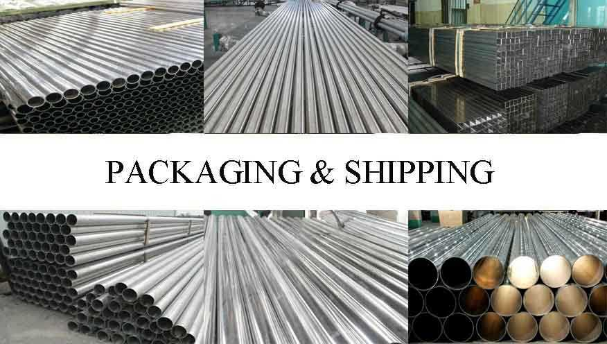 Packaging and shipping of Aluminum Pipes made in China