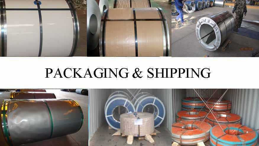PACKAGING AND SHIPPING OF Cold rolled steel coils