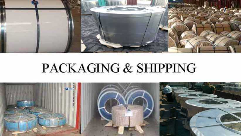 packing&shipping of hot sale galvanized steel coil supplier in Mauritius