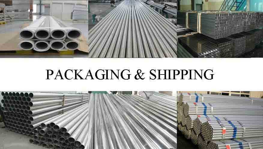 Packaging and shipping of Aluminum pipe with the factory price in China