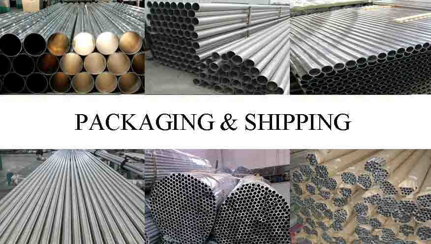 Packaging and shipping of Hot sale aluminum pipe 7075 with the factory price